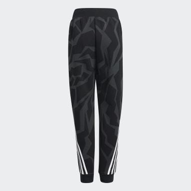 Pantaloni Future Icons 3-Stripes Tapered-Leg Grigio Ragazzo Sportswear