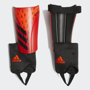 Soccer Red Predator Match Shin Guards