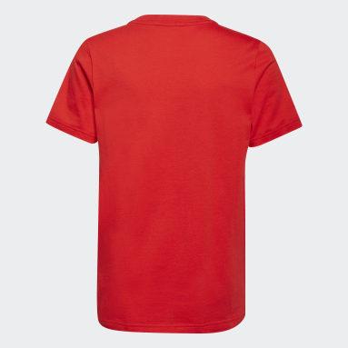 เด็กผู้ชาย ไลฟ์สไตล์ สีแดง เสื้อยืด adidas x Disney Huey Dewey Louie