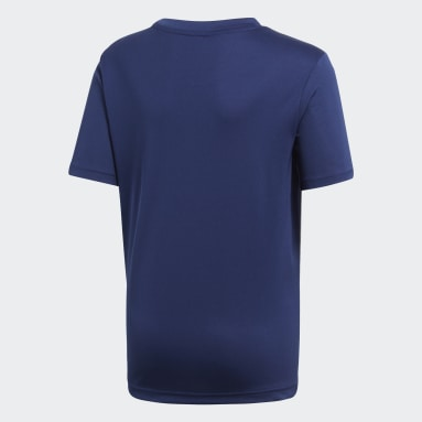 Kinderen Fitness En Training Blauw Core 18 Trainingsshirt
