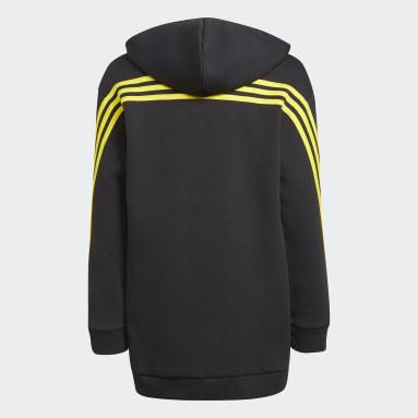 Sweat-shirt à capuche adidas x Classic LEGO® 3-Stripes Pocket noir Enfants Entraînement