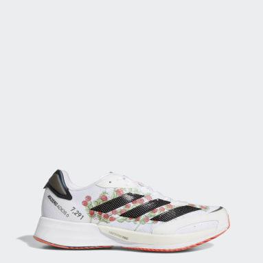 Running White Adizero Adios 6 Shoes