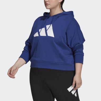 Felpa con cappuccio adidas Sportswear Future Icons (Taglie plus) Blu Donna Sportswear