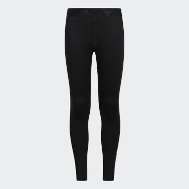 Youth Running Black Techfit Tights