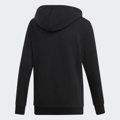 Sweat-shirt à capuche Must Haves Badge of Sport noir Adolescents Essentials
