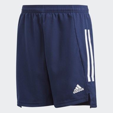 Jongens Voetbal Blauw Condivo 21 Primeblue Short
