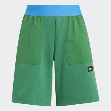 Pantalón corto adidas x Classic LEGO® Verde Niño Gimnasio Y Entrenamiento