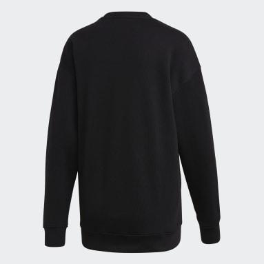 Sweat-shirt Trefoil Crew Noir Femmes Originals
