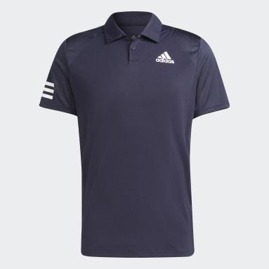 Polo Tennis Club  3 bandas Azul Hombre Tenis
