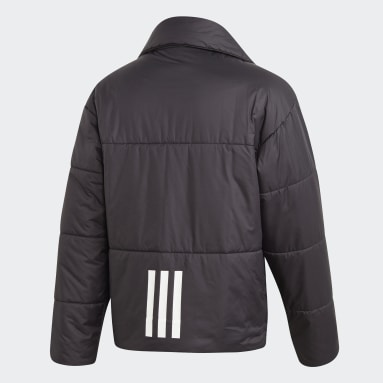 Men City Outdoor Black Big Baffle Bomber Jacket