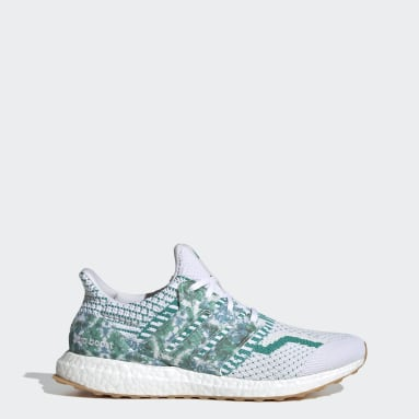 Men Running White Ultraboost 5.0 DNA Nature Lab Shoes