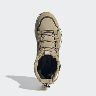 Women TERREX Beige Terrex Hikster Mid COLD.RDY Hiking Shoes