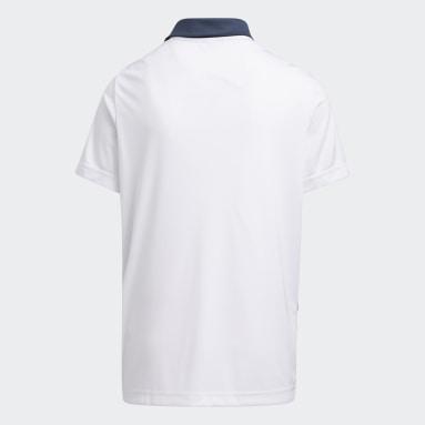 Printed Polo Shirt Niebieski