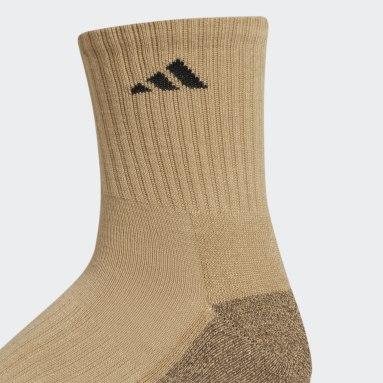 Men's Training Yellow Cushioned X Mid-Crew Socks 3 Pairs