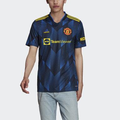 Camiseta Tercer Uniforme Manchester United 21/22 Azul Hombre Fútbol