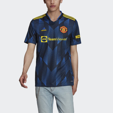 Camiseta tercera equipación Manchester United 21/22 Azul Hombre Fútbol