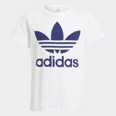 T-shirt Trefoil Bianco Bambini Originals