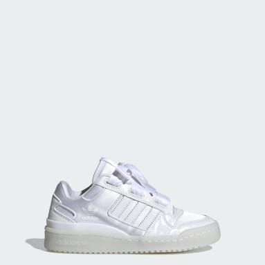Kids Originals White Forum Satin Low Shoes