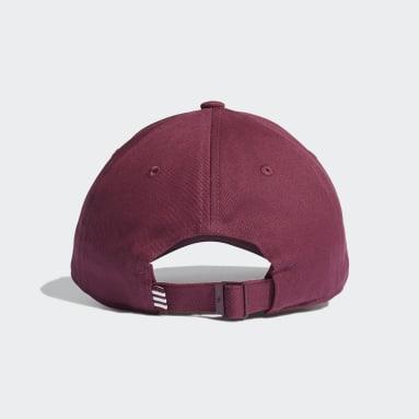 Gorra Trefoil Baseball Burgundy Originals