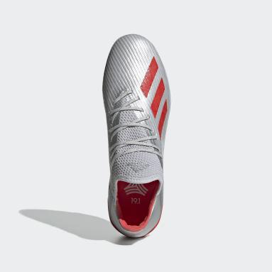Calzado de Fútbol X 19.1 Césped Artificial Plata Hombre Fútbol