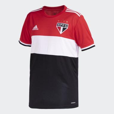 Camisa 3 São Paulo FC 21 Masculina Vermelho Homem Futebol