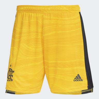 Shorts Goleiro 1 CR Flamengo 21/22 Amarelo Homem Futebol