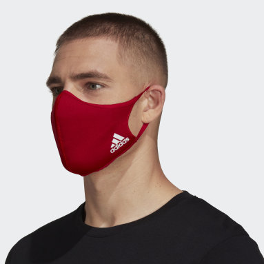 Sportswear สีแดง Face Cover Badge of Sport (ไม่เหมาะสำหรับใช้ทางการแพทย์)