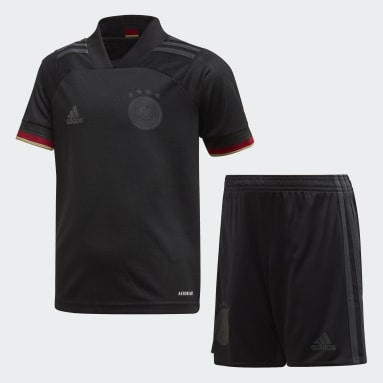 Miniconjunto segunda equipación Alemania Negro Niño Fútbol