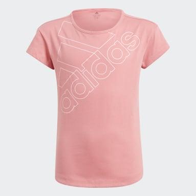 T-shirt adidas Essentials Logo Rosa Ragazza Sportswear