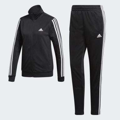 Fato de Treino Team Sports Preto Mulher Sportswear
