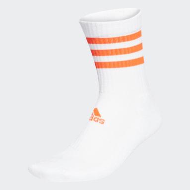 Training White 3-Stripes Cushioned Crew Socks
