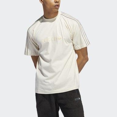 Herr Originals Vit adidas SPRT Shadow 3-Stripes Tee