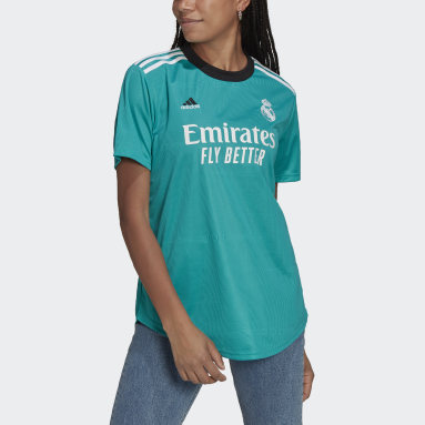 Maillot Third Real Madrid 21/22 Turquoise Femmes Football