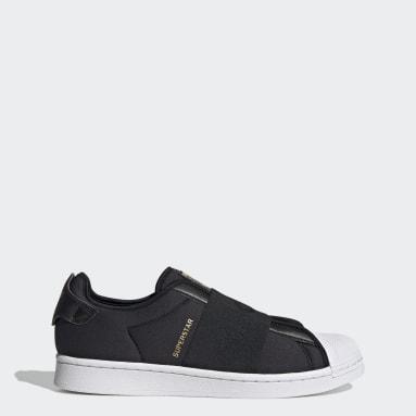 Men Originals Black Superstar Slip-On Shoes