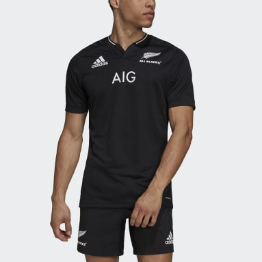 AB H JSY Negro Hombre Rugby