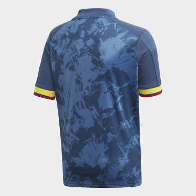 Boys Fodbold Blå Colombia udebanetrøje
