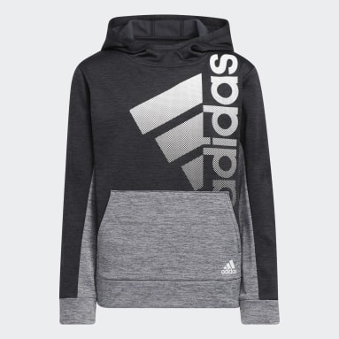 Youth Training Black Colorblocked Mélange Hoodie