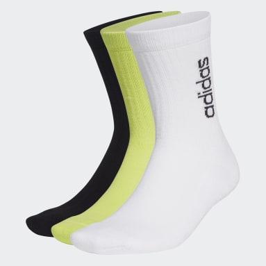 Lifestyle White Half-Cushioned Vertical Crew Socks 3 Pairs