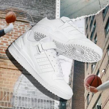 ผู้ชาย Originals สีขาว รองเท้า Forum Low