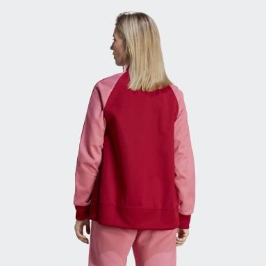 Chaqueta Adicolor Classics Collegiate Rojo Mujer Originals