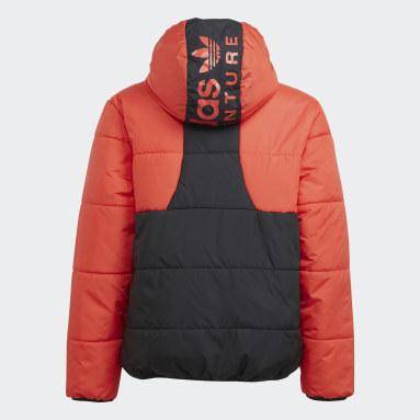 Kinder Originals adidas Adventure Jacke Rot