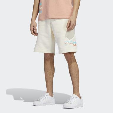 Short Logo Play Blanc Hommes Originals