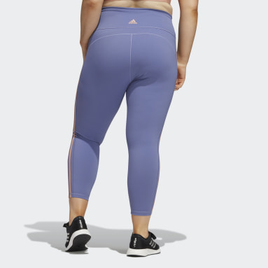 Tight Believe This 3-Stripes 7/8 (Grandes tailles) Violet Femmes HIIT