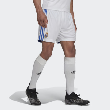 Men Football White Real Madrid 21/22 Home Shorts