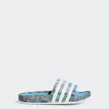 Youth Originals Turquoise Ninja Time In™ Adilette Boost Slides