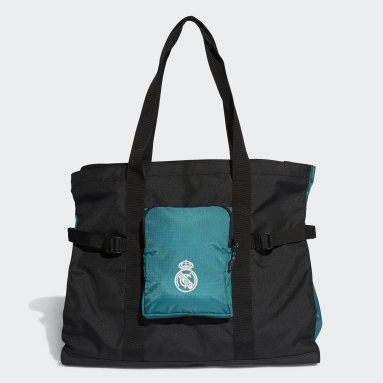 Football Black Real Madrid Tote Bag