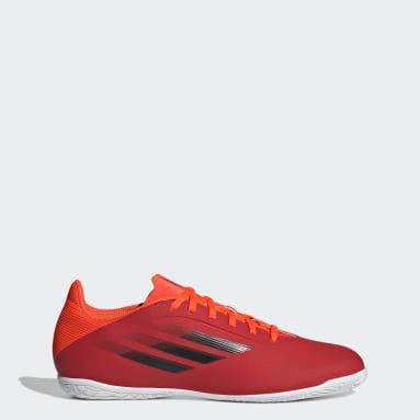 Calzado de Fútbol X Speedflow.4 Cancha Cubierta Rojo Fútbol