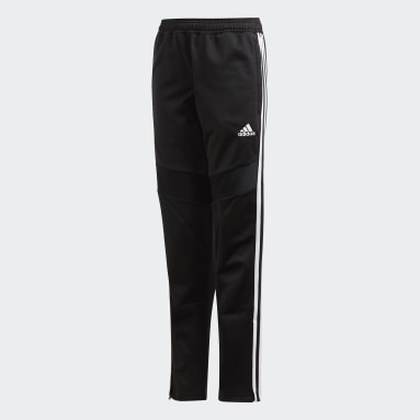 Kids Gym & Training Black Tiro 19 Polyester Pants