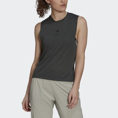 Women's Trail Running Green Agravic Parley Tank Top