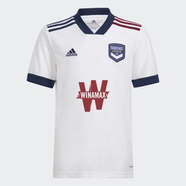 Jungen Fußball FC Girondins de Bordeaux 21/22 Auswärtstrikot Weiß